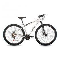 Bicicleta Mazza Bikes Fire - Aro 29 Disco - Shimano 21 Marchas - MZZ-200 - Branco - 17 -