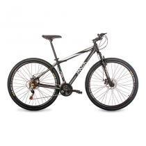 Bicicleta Mazza Bikes Fire - Aro 29 Disco - Shimano 21 Marchas - MZZ-200 - Preto - 17 -