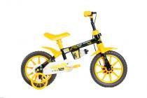Bicicleta Mormaii Aro 12 Kids Preto/Amarelo - 2011702 -