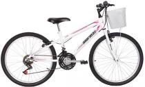 Bicicleta  Mormaii   Aro 24 Fantasy 21V  C/Cesta Branca - 2011821 -