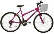 Bicicleta Mormaii   Aro 26 Fantasy 21V  C/ cestaRosa Barbie-2011826 -