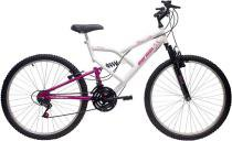 Bicicleta Mormaii   Aro 26 Fantasy  Full 18vBranca/Rosa - 2011843 -