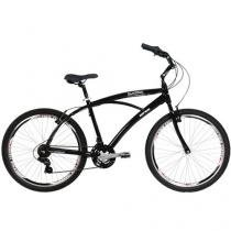 Bicicleta Mormaii Beach Way Pro Conforto Aro 26 - 21 Marchas Câmbio Shimano Quadro de Alumínio