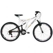Bicicleta Mormaii Padang Full Suspension Aro 26 - 24 Marchas Freio V-Brake
