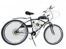 Bicicleta Motorizada Motor 2 Tempos 80cc Preta - Milan bike