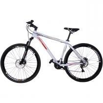 Bicicleta MTB Alumínio 21V Aro 29  Suspensão Duplo Freio A Disco Branca - Dalannio bike