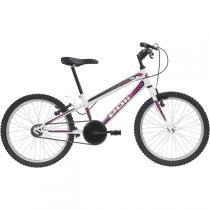 Bicicleta Mtb Aro 20 Monomarcha Feminina Branco 7138 Polimet -