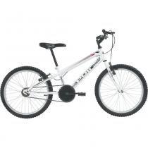 Bicicleta Mtb Aro 20 Monomarcha Masculina Branca 7136 Polimet -