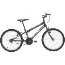 Bicicleta Mtb Aro 20 Monomarcha Masculina Preto 7130 Polimet -