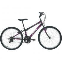 Bicicleta Mtb Aro 24 Feminina 18 Marchas Preto 7133 Polimet - Polimet