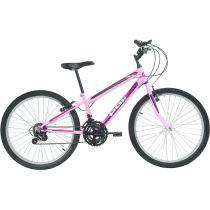 Bicicleta Mtb Aro 24 Feminina 18 Marchas Rosa 7143 Polimet - Polimet