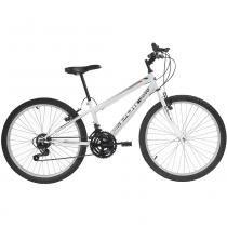 Bicicleta Mtb Aro 24 Masculina 18 Marchas Branco 7140 Polimet - Polimet