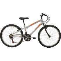 Bicicleta Mtb Aro 24 Masculina 18 Marchas Prata 7141 Polimet -
