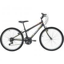 Bicicleta Mtb Aro 24 Masculina 18 Marchas Preto 7132 Polimet - Polimet