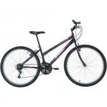Bicicleta Mtb Aro 26 Feminina 18 Marchas Preto 7135 Polimet -