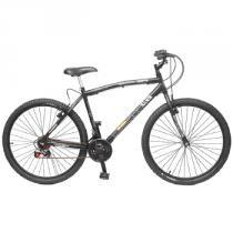 Bicicleta MTB V-Brake Aro 26 18 Marchas 36 Raias CB500 Preta - Colli - Colli