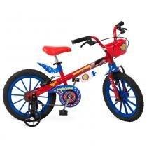 Bicicleta Mulher Maravilha Liga da Justiça Aro 16 Vermelho - Bandeirante