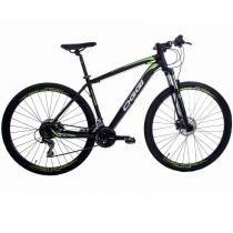 "Bicicleta Oggi Big Wheel 7.1 29"" Alumínio PRETO/VERDE Shimano Acera 24 V - TAM 15,5 (2016) - 15,5 - OGGI"