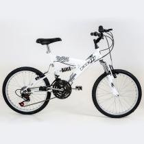 Bicicleta Polimet Kanguru Full Suspension Aro 20 V-brake Infantil 18v - Poli Sports