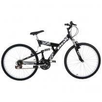 Bicicleta Polimet Kanguru Full Suspension Aro 26 V-brake 18v - Poli Sports