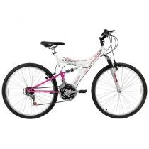 Bicicleta Track & Bikes Mountain Bike Aro 26 - 18 Marchas Suspensão Central Freios V-Brake