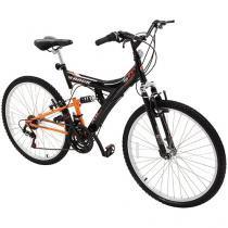 Bicicleta Track & Bikes TB 100 PO Aro 26 - 18 Marchas Dupla Suspensão Quadro de Aço