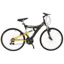 Bicicleta Track & Bikes TB-100XS/PA Aro 26 - 18 Marchas Suspensão Central Quadro de Aço