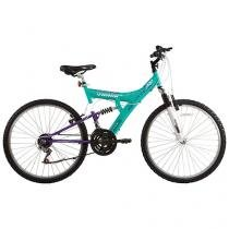 Bicicleta Track & Bikes TB-200 Aro 26 18 Marchas - Dupla Suspensão Quadro de Aço Freio V-Brake