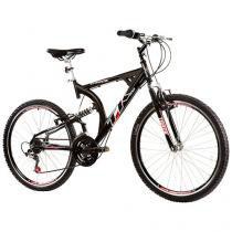 Bicicleta Track & Bikes TK 400 Aro 26 21 Marchas - Dupla Suspensão Quadro de Alumínio Freio V-Brake