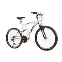 Bicicleta Track Bikes TK 400 Aro 26 Full Suspension Aluminio 21 v - Branco - Track Bikes