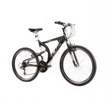 Bicicleta Track Bikes TK 400 Aro 26 Full Suspension Aluminio 21 v - Preto - Track Bikes