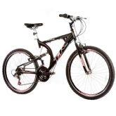 Bicicleta Track Bikes XK-400, Preta, Aro 26, 21 Marchas, Dupla suspensão - Track  Bikes