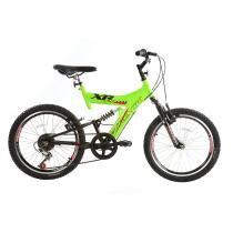 Bicicleta Track Bikes XR 20 Aro 20 Com Suspensão Dupla - Preto/Verde - Track Bikes