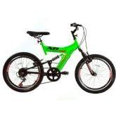 Bicicleta Track Bikes XR 20 Full, Preta e Verde, Aro 20, 6V - Track  bikes