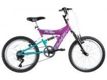 Bicicleta Track  Bikes XS 20 Aro 20 6 Marchas - Dupla Suspensão Quadro de Aço Freio V-Brake