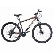 Bicicleta Trinx STI 2.0 Aro 29 Freio/DISC Susp 24V Kit Shimano Preta com Laranja - Pelegrin