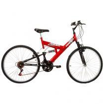 Bicicleta Verden Radikale Aro 26 18 Marchas - Dupla Suspensão Quadro de Aço Freio V-Brake
