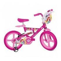 Bicicleta X Bike Aro 14 Infantil Princesas Disney Rosa - Bandeirante - Princesas Disney