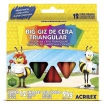 Big Giz De Cera Triangular 12 Unidades Acrilex -