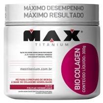 Bio Colagen Pote 300g - Max Titanium - Frutas Vermelhas - Max Titanium