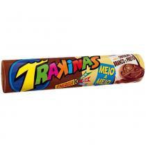 Biscoito Trakinas Chocolate ao Leite e Branco 136g - Nabisco -