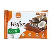 Biscoito Wafer Coco Diet 55g - Belfar - Diversos