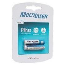 Blister C/ 2 Pilhas Recarregáveis Multilaser AAA 1000MAH CB051 -