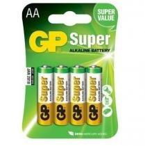 Blister c/ 4 pilhas super alcalina aa 15a-c4 gp -