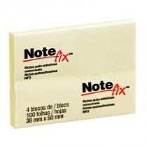 Bloco Adesivo Notefix 3M 38x50mm Amarelo PCT C/4 UN -