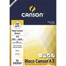 Bloco Canson Desenho 200 Branco 224g/m² A3 297 x 240 mm com 20 Folhas  66667044 -