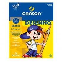 Bloco Canson Desenho Branco A4 140g 20 Folhas -