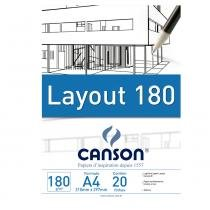 Bloco Canson Layout  180g/m² A4 210 x 297 mm com 20 Folhas  66667027 -