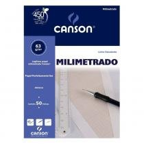 Bloco Canson Milimetrado - 63gr A4 c/ 50 folhas -