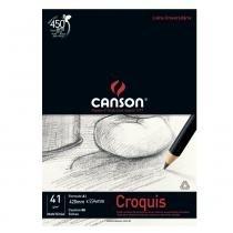 Bloco Canson para Desenho Croquis Manteiga 41g/m² A2 420 x 594 mm com 50 Folhas  66667048 -